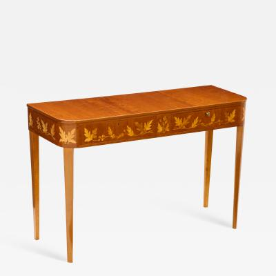 Carl Malmsten Swedish Carl Malmsten Mahogany and Fruitwood Console Circa 1950s
