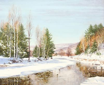 Carl Wuermer THE WINTRY RIVER