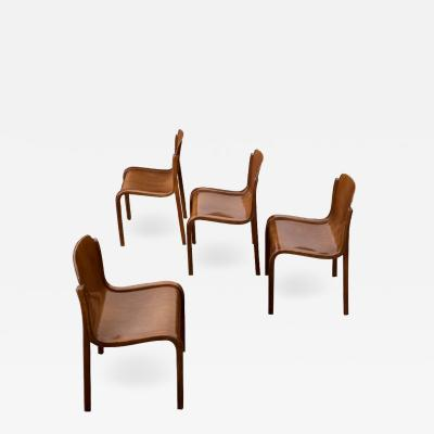 Carlo Bartoli Set of four Bartoli Mito plywood chairs for T70