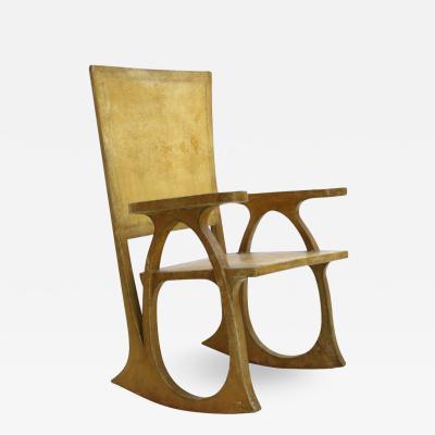 Carlo Bugatti Carlo Bugatti Parchment Paper And Wood Sculptural Chair Italy 30s
