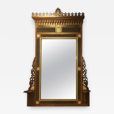 Carlo Bugatti Monumental Moorish Mirror in the Manner of Carlo Bugatti