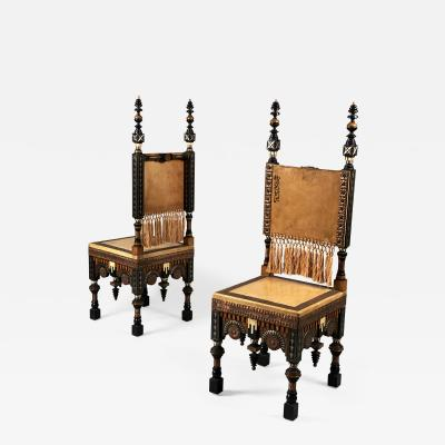 Carlo Bugatti Pair of Chairs