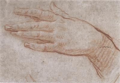 Carlo Cavaliere Maratti Study of a left hand