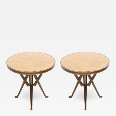 Carlo Mollino Influenced Pair of Pedestal Tables