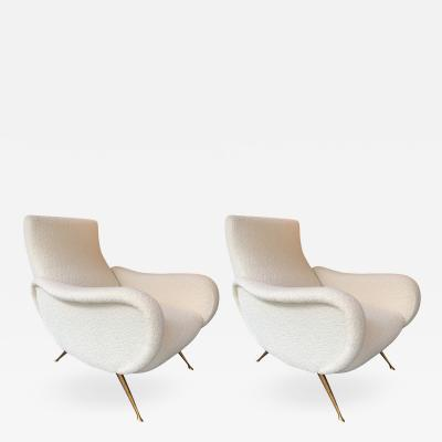 Carlo Monti Pair of Italian Armchairs Saluzzo by Carlo Monti for CMG Italy 1950s