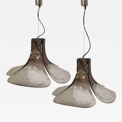Carlo Nason 1 of the 2 Pendant Lamp Model LS185 by Carlo Nason for Mazzega