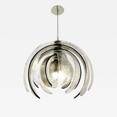 Carlo Nason Artichoke Murano Glass Chandelier by Mazzega