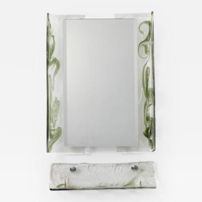 Carlo Nason Carlo Nason Murano glass mirror shelf Mazzega Italy 1970s