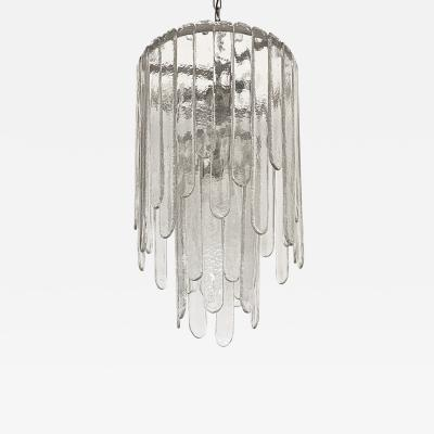 Carlo Nason Carlo Nason Two Tier Cascade Ice Glass Chandelier