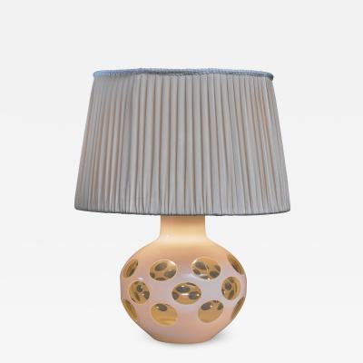 Carlo Nason Carlo Nason glass table lamp for Mazzega in pale yellow Italy 1970s