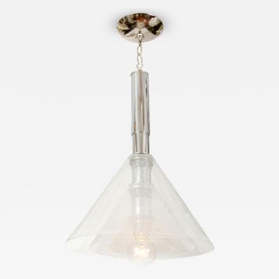 Carlo Nason Conical Glass Pendant by Carlo Nason for Mazzega