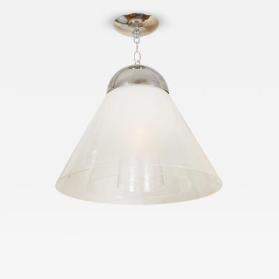 Carlo Nason Conical Lattimo Glass Pendant by Carlo Nason for Mazzega