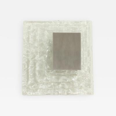 Carlo Nason Large Square Wall Lamp by Carlo Nason for Mazzega