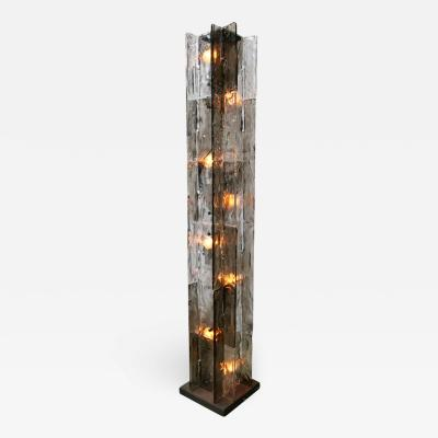 Carlo Nason Mazzega Glass Floor Lamp Designed by Carlo Nason