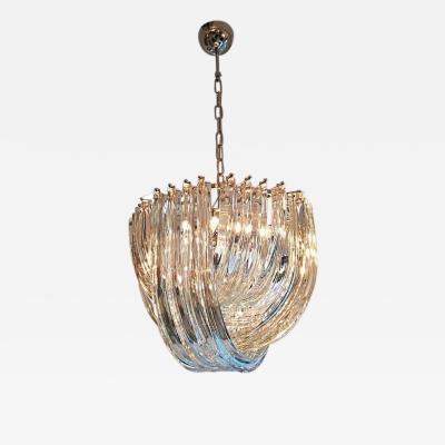 Carlo Nason Murano Curved Crystal Chandelier by Carlo Nason