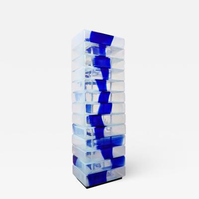 Carlo Nason Murano Glass Floor Lamp By Carlo Nason For Mazzega C 1960s