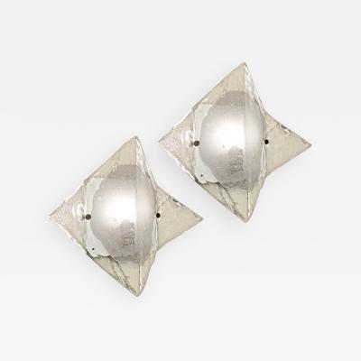 Carlo Nason Murano Glass Sconces or Flush Mounts by Mazzega