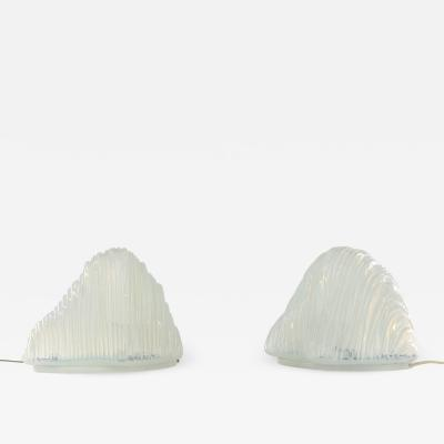 Carlo Nason Pair of Iceberg Table lamps by Carlo Nason for AV Mazzega 1960s