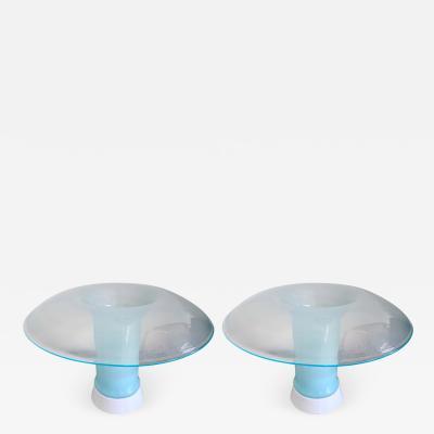 Carlo Nason Pair of Murano Glass Lamps by Carlo Nason for Selenova Italy 1970s