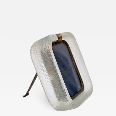 Carlo Scarpa Carlo Scarpa Battuto Glass Picture Frame by Venini Italy c 1940