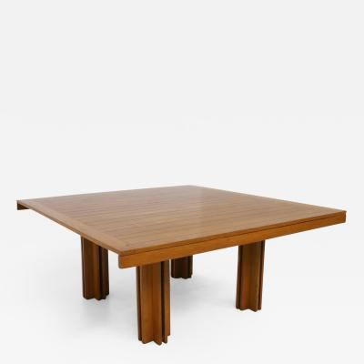Carlo Scarpa Carlo Scarpa Italian wooden table for Gavina model Quatour 1970s