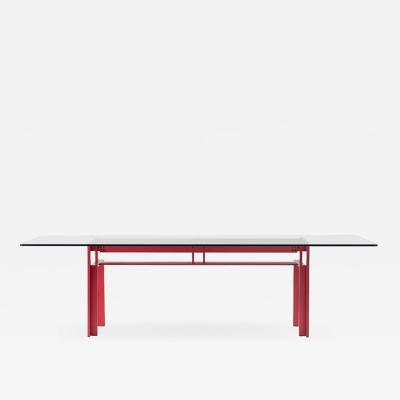Carlo Scarpa Carlo Scarpa Red Anodized Architectural Doge Dining Table for Cassina Simon