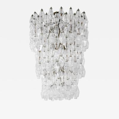Carlo Scarpa Carlo Scarpa Venini Chandelier Collection Poliedri in Murano Glass