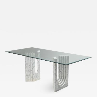 Carlo Scarpa Carrara White Marble Dining Table Scarpa 1970s