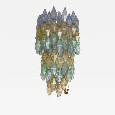 Carlo Scarpa Chandelier Carlo Scarpa Venini Murano Polyhedron Glass Italy 1960s
