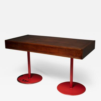 Carlo Scarpa Italian 1960s Wood Desk