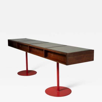 Carlo Scarpa Large Italian 60s Wood Counter