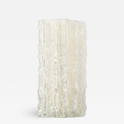 Carlo Scarpa Mid Century Modern Organic Textural Murano Glass Vase by Carlo Scarpa for Venini