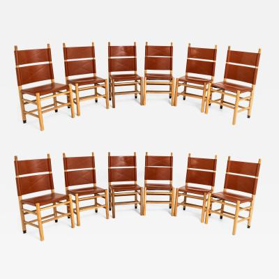 Carlo Scarpa SET OF TWELVE CARLO SCARPA KENTUCKY CHAIRS