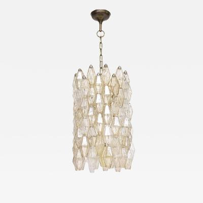Carlo Scarpa Venini Murano chandelier Poliedri by Carlo Scarpa