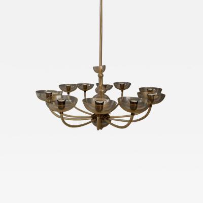 Carlo Scarpa Venini large chandelier designer Carlo Scarpa from 1930