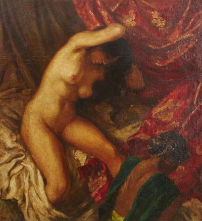 Carlo Wostry Nude Grooming in the Light of Early Morning