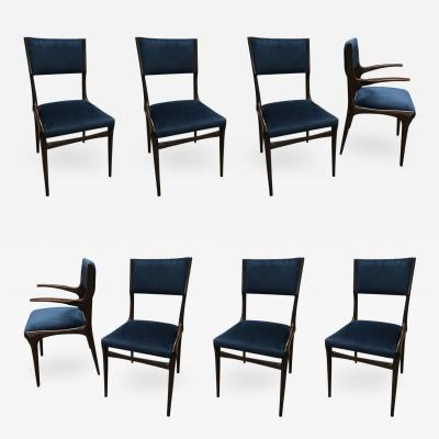 Carlo de Carli Carlo de Carli Chairs Set of Eight Including Two Chairs with Armrest 1951