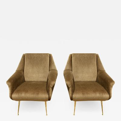 Carlo de Carli Carlo de Carli Pair of Chic Loung Chairs 1950s