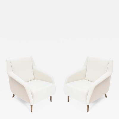 Carlo de Carli Carlo di Carli Pair of Carlo De Carli 802 Lounge Chairs by Cassina Italy c 1960