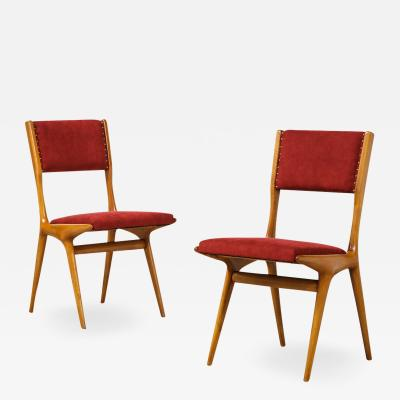 Carlo de Carli Carlo di Carli Set of 10 634 Dining Chairs by Carlo de Carli for Cassina