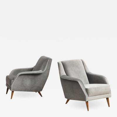 Carlo de Carli Pair of 802 Lounge Chairs by Carlo De Carli for Cassina