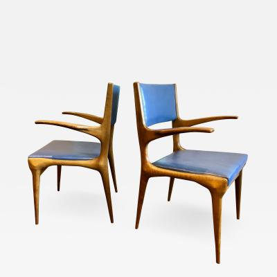 Carlo de Carli Pair of Carlo de Carli Model 162 Armchairs