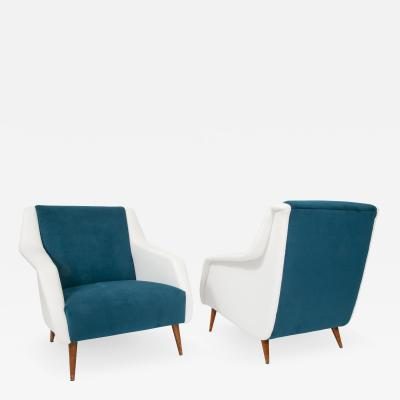 Carlo de Carli Pair of armchairs model no 802