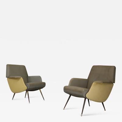 Carlo de Carli Rare pair of armchairs by Carlo De Carli 1950