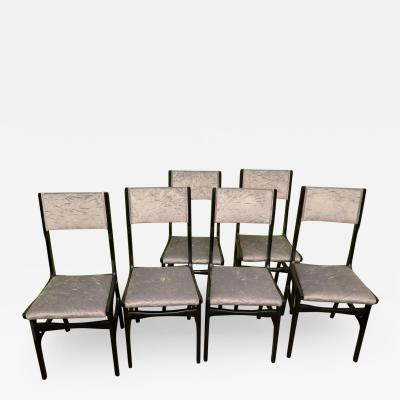 Carlo de Carli Set of 6 Chairs By Carlo De Carli Italy 1950