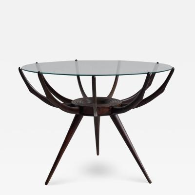 Carlo de Carli Wooden Spider Leg Coffee Table by Carlo de Carli