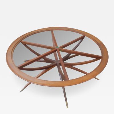 Carlo di Carli Mid Century Modern Carlo di Carli Spider Leg Walnut Coffee Table