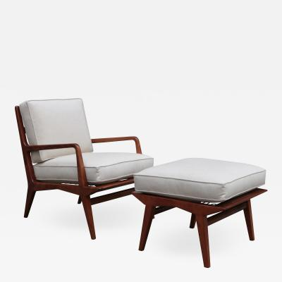 Carlo di Carli Mid Century Modern Lounge Chair and Ottoman