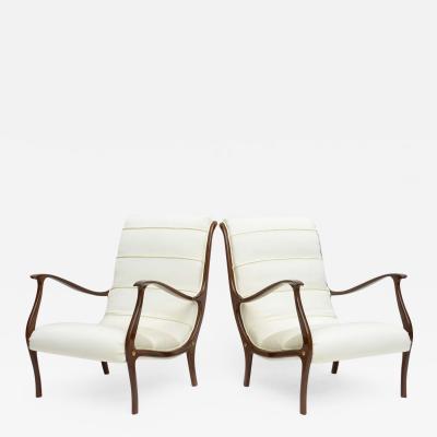 Carlo di Carli Pair Italian Modern Lounge Chairs Carlo di Carli