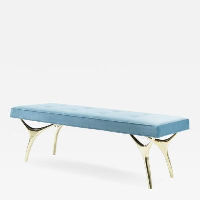 Carlos Solano Granda Crescent Bench in Brass